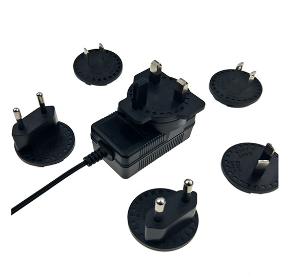 12V 0.5A Detachable interchangeable switching power supply adapter