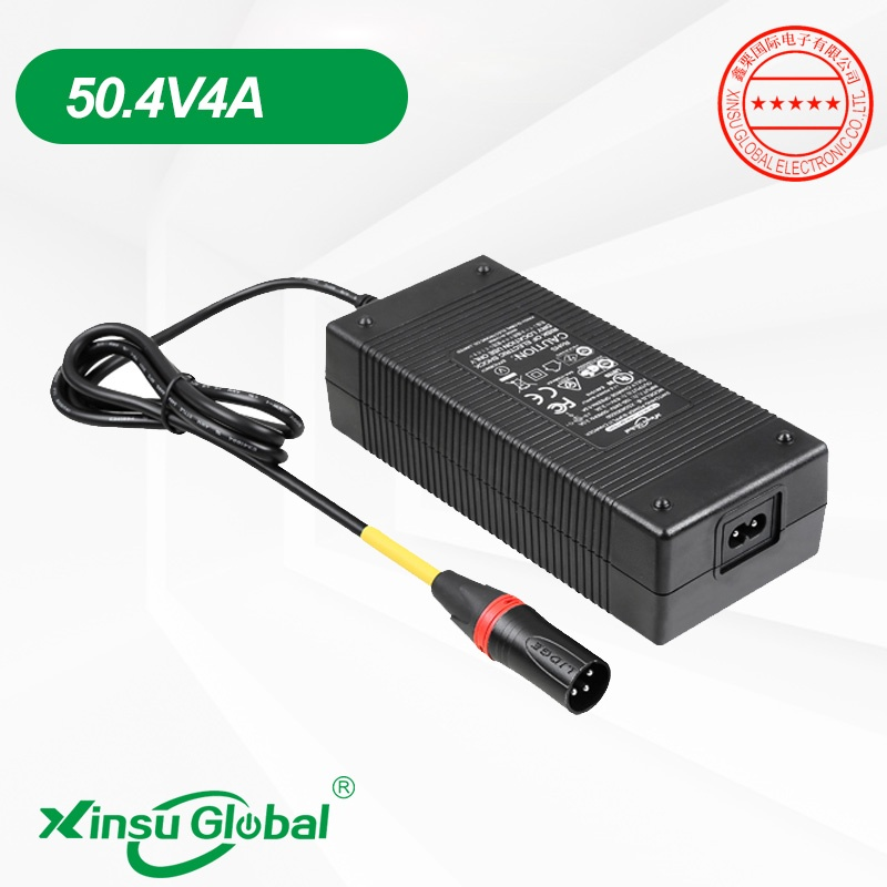 UL PSE CE SAA listed 50.4V 4A lithium battery charger