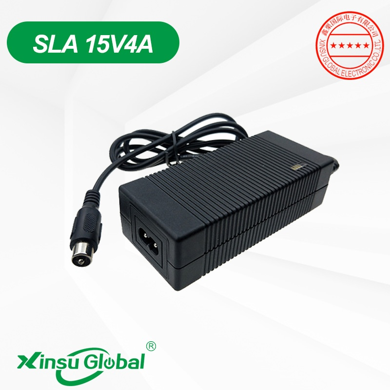 UL PSE CE KC SAA GS certificated 15V 4A Lead acid battery charger