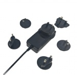 UL PSE CE GS SAA KC multi detachable plugs power adapter 12V 3A