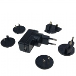 Multi interchangeable plugs heated sock USB charger power adapter 5V 1A