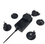interchangeable plugs AC DC 12.6V 2.5A Li-ion charger UL PSE CE GS SAA listed