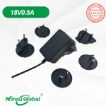 Audio Interchangeable detachable plug switching power supply adapter 18V 0.5A