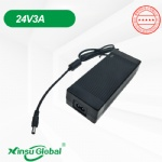 24V3A portable oxygen concentrator ventilator external power supply adapter