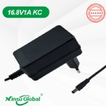 KC KCC certificated 16.8V 1A li-ion Korea charger adapter