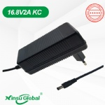 South Korea KC KCC certificated 16.8V 2A li-ion battery charger adapter