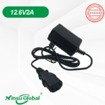South Korea KC adapter lithium battery 12.6V 2A charger