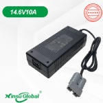 Sealed Plastic enclosure LiFePO4 battery charger 14.6V 10A charger