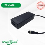 UL PSE KC CE GS certificated 29.4V 4A lithium charger adapters