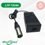 UL PSE CE KC SAA GS certificated 15V 4A LiFePO4 battery charger