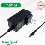 UL approved 6V Ni-MH battery charger adapter 7V 0.3A