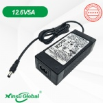 UL CE SAA PSE GS KC CCC 3-cell 12V lithium battery charger 12.6V 5A adapter