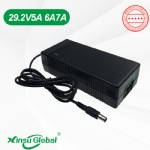 UL PSE KC CCC CE Listed 8-cell 29.2V 5A 7A LiFePO4 battery charger with reverse polarity protection